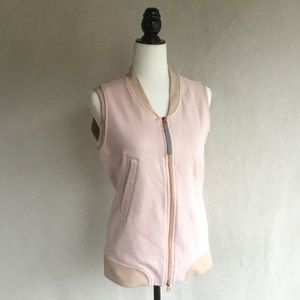 Lululemon pale pink zippered vest